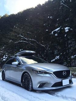 雪道ドライブ!