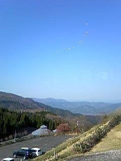 ビラデスト今津から見た山並み