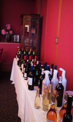 試飲会のワイン