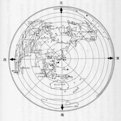 正距方位図法