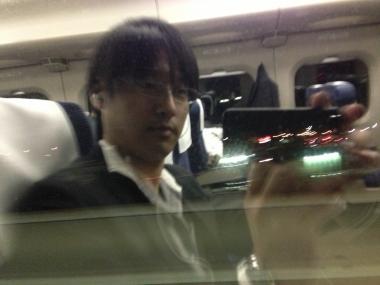 大照 新幹線の車窓