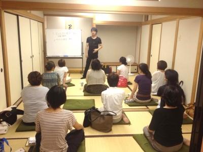 瞑想講座の様子