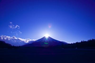 富士に指す光