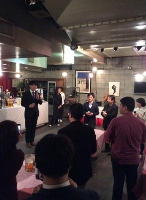 上野大照 ブリーフセラピー研修懇親会にて