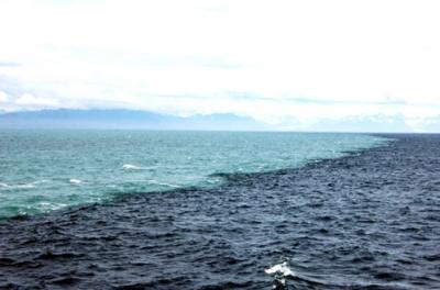 寒流と暖流は混ざらないまま地球を維持している