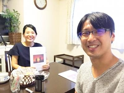心を学ぶ講座統合編を受講いただいたさわらぎ寛子さんと上野大照
