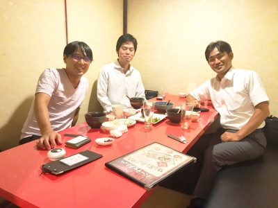 私設相談室を開業する心理カウンセラー交流会(左から上野大照、西橋康介、衣川竜也)
