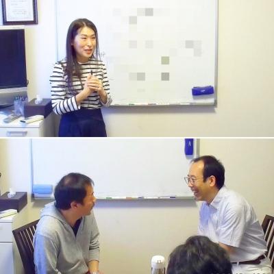 心匠認定講師養成講座でプレゼンする白川晴美さんと浅野俊昭さん
