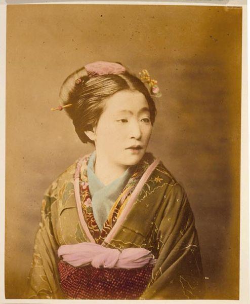 1870年の和服の人