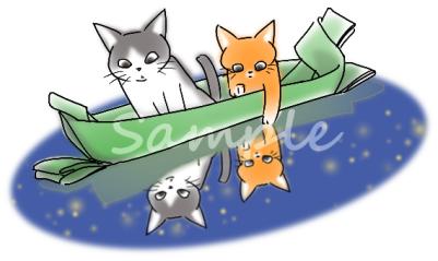 笹船と天の川
