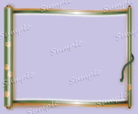 肉球巻物フレームサンプル
