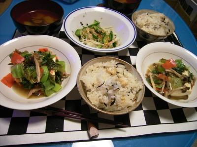 R0025756豆腐に青梗菜、シジミ大根飯_400.jpg