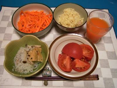 R0028234秋刀魚ご飯、炊き合わせ、ニンジンソテークミンシード入り、トマト_400.jpg