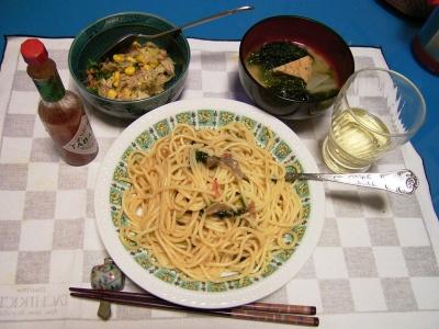 R0028801シメジパスタ、ツナサラダ、厚揚げ味噌汁_400.jpg