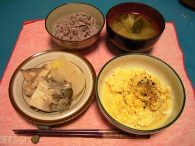 R0029211ぶり大根、ソフトオムレツ、若布のお味噌汁、五穀米ご飯_400.jpg