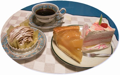 R0029352苺ケーキ、モンブラン、アップルパイ、コーヒー_400.jpg