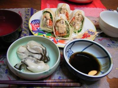 R0029623夜-生牡蠣にバルサミコオリーブオイル、トルティーヤ_400.jpg