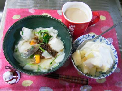 R0029731昼-七草雑炊、りんごヨーグルト、カフェオレ_400.png