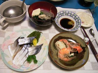 R0030201夜-しめ鯖、海老・蟹・牡蠣他の寄せ鍋_400.jpg