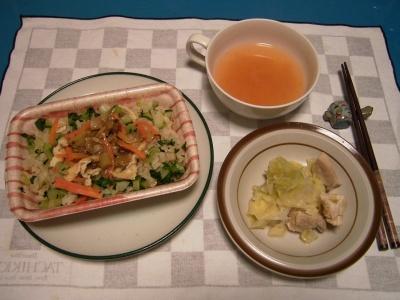 R0031046夜-深川飯、チキンキャベツ蒸し煮、スープ_400.jpg