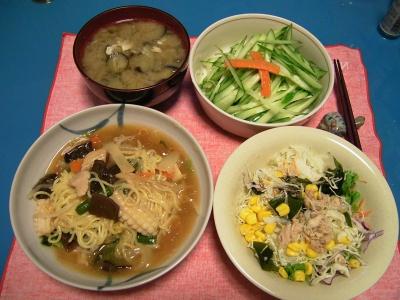 R0032890夜-中華海鮮麺、ツナサラダ、キュウリ、ナスの味噌汁_400.jpg