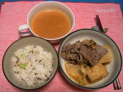 R0033224夜-牛肉のキムチ鍋、キムチスープ、かやくご飯_400.jpg