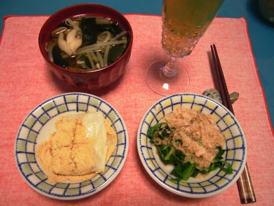 R0033407夜-きなこ餅、ほうれん草おひたし、野菜汁_400.jpg