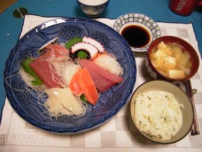 R0033439夜-お刺身、七草ご飯、豆腐のお吸い物_400.jpg