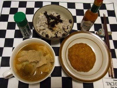 RIMG0131夜-キャベツメンチ、ポークシチュー、雑穀米ご飯、昆布の佃煮_400.jpg