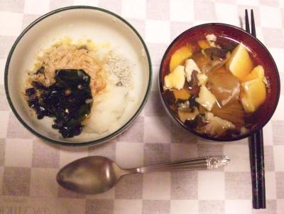 100603_200623夜-おろしジャコわかめおかか、椎茸のお吸い物_400.jpg