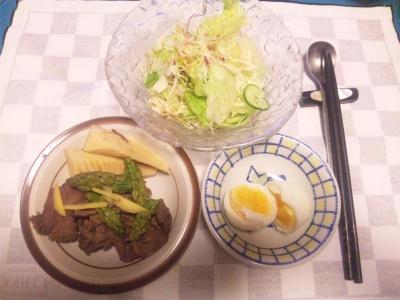 SBSH0212_0817夜-ビーフ筍旨煮、ゆで卵、野菜サラダ_400.jpg