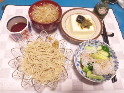 SBSH0219_0902夜-お蕎麦、もやしの味噌汁、シラスきゅうり、梅海苔奴_400.jpg