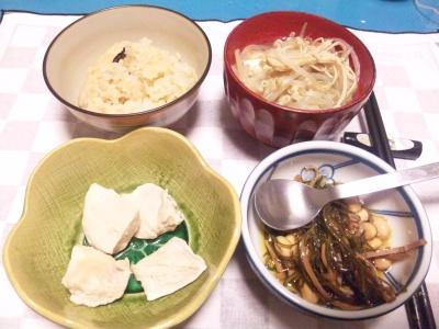 SBSH0204_0120夜-チキン旨煮、松前漬け、モヤシごった煮、炊き込みご飯_400.jpg