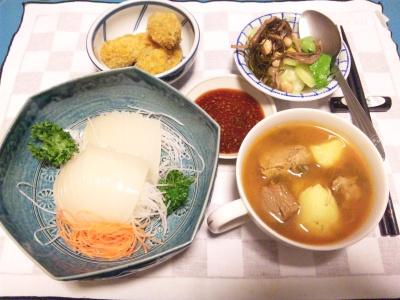 SBSH0221_0128夜-イカ刺身、ビーフシチュー、セロリ松前漬け、牡蠣フライ_400.jpg