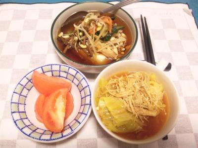 SBSH0209_0207夜-キャベツスープ煮、ナムル奴、トマト_400.jpg