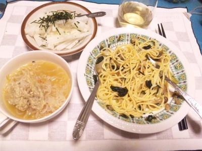 SBSH0204_0305夜-スパゲティ、つみれスープ、大根サラダ_400.jpg