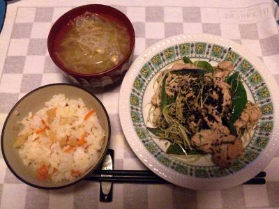 SBSH0204_0306夜-ポークソテー寿司飯、モヤシスープ_400.jpg