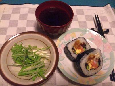 SBSH0222_0313夜-アナゴ巻き寿司、水菜、お吸い物_400.jpg