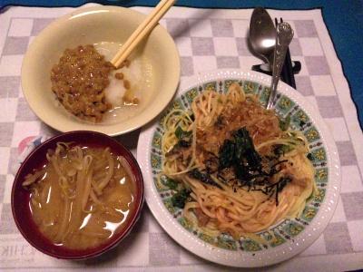 SBSH0202_0607夜-おろし納豆、ほうれん草のスパゲティ、もやしの味噌汁_400.jpg