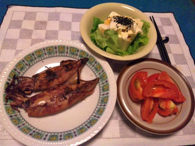 SBSH0205_0622夜-焼きイカ、トマトサラダ、冷奴_400.jpg