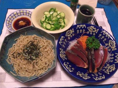 SBSH0206_0701夜-蕎麦、カツオのたたき、きゅうりサラダ_400.jpg