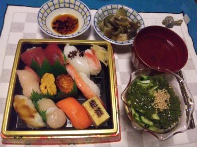 SBSH0212_0904夜握り寿司、メカブとキュウリの酢の物、茄子の旨煮、スープ_400.jpg
