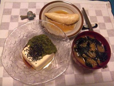 SBSH0221_1009夜-さっと煮のササミ、メカブ奴、餅入りわかめ味噌汁_400.jpg