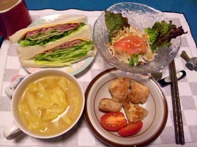 SBSH0239_1225夜-レタスサンド、チキンソテー、野菜サラダ、キャベツとジャガイモのスープ煮_400.jpg