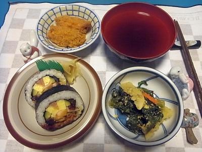 RIMG0006_0121夜-巻き寿司、牡蠣フライ、筍の和え物、お吸い物_400.jpg