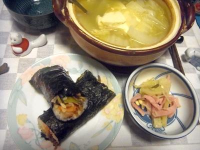 RIMG0013_0208夜-海苔巻き、豆腐鍋、ハムとジャガイモのソテー_400.jpg