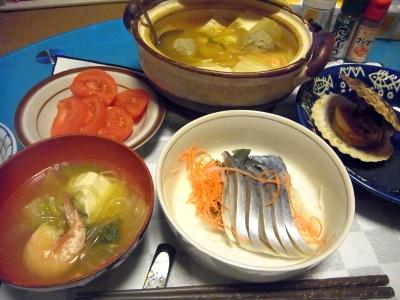 RIMG0017_0218夜-つみれ鍋、焼きホタテ、しめ鯖、トマト_400.jpg