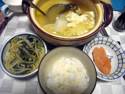 RIMG0008_0220夜-豆腐鍋、辛子明太子、もやしとほうれん草の和え物_400.jpg