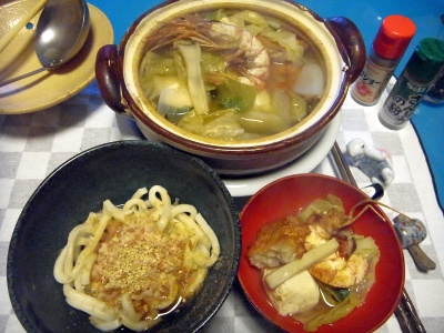 RIMG0010_0301夜-海老とキャベツの洋風鍋、ぶっ掛けうどん_400.jpg