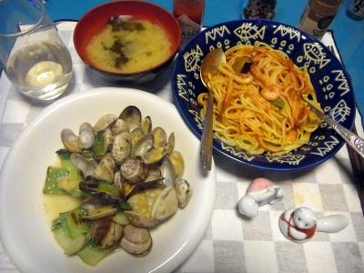 RIMG0011_0403夜-アサリと青梗菜炒め、シーフードスパゲティ、味噌汁_400.jpg